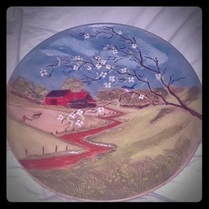 Byron Mold Vintage 1972 Ceramic Handcrafted Plate
